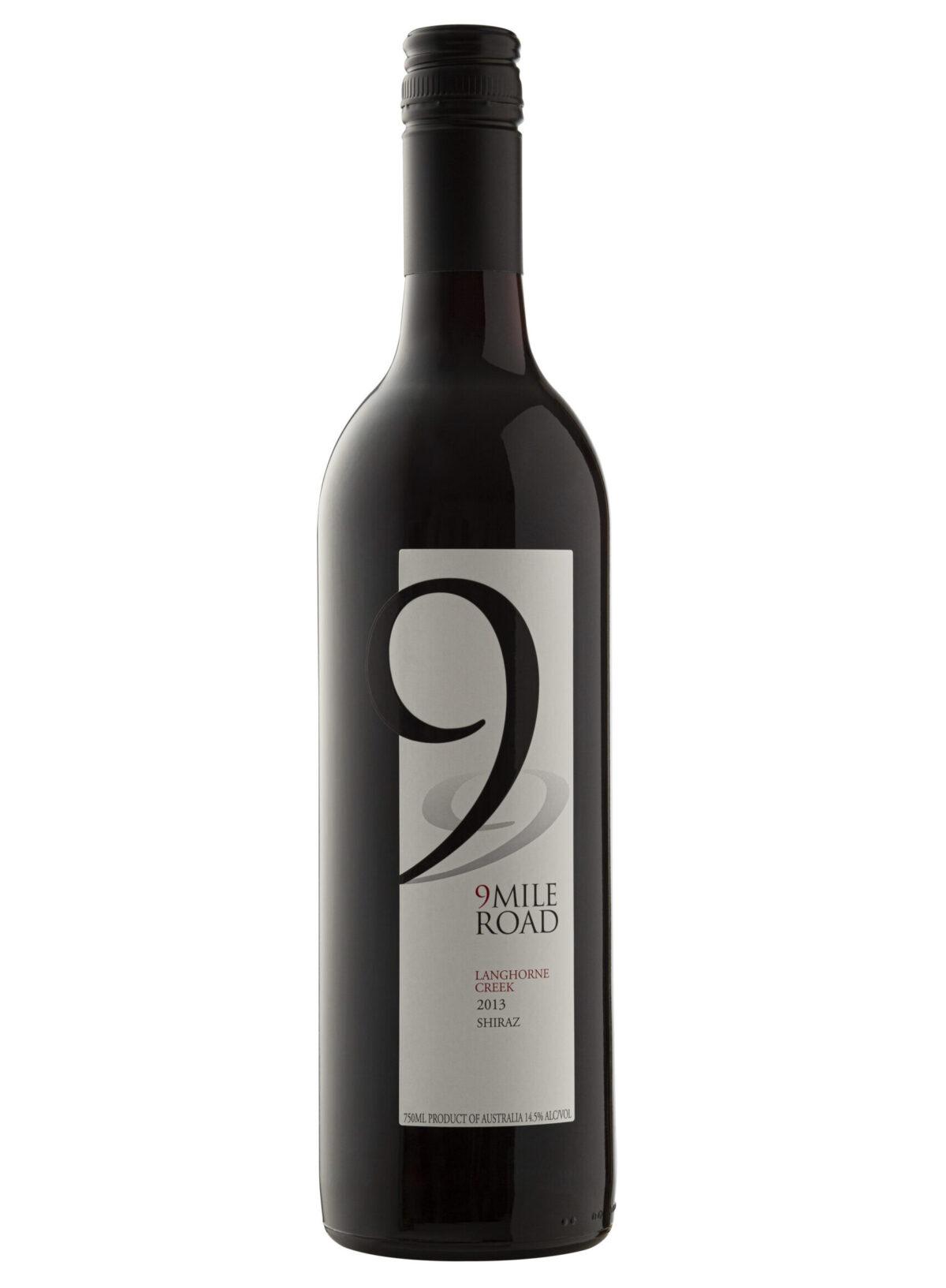 9 mile road wine bottle.