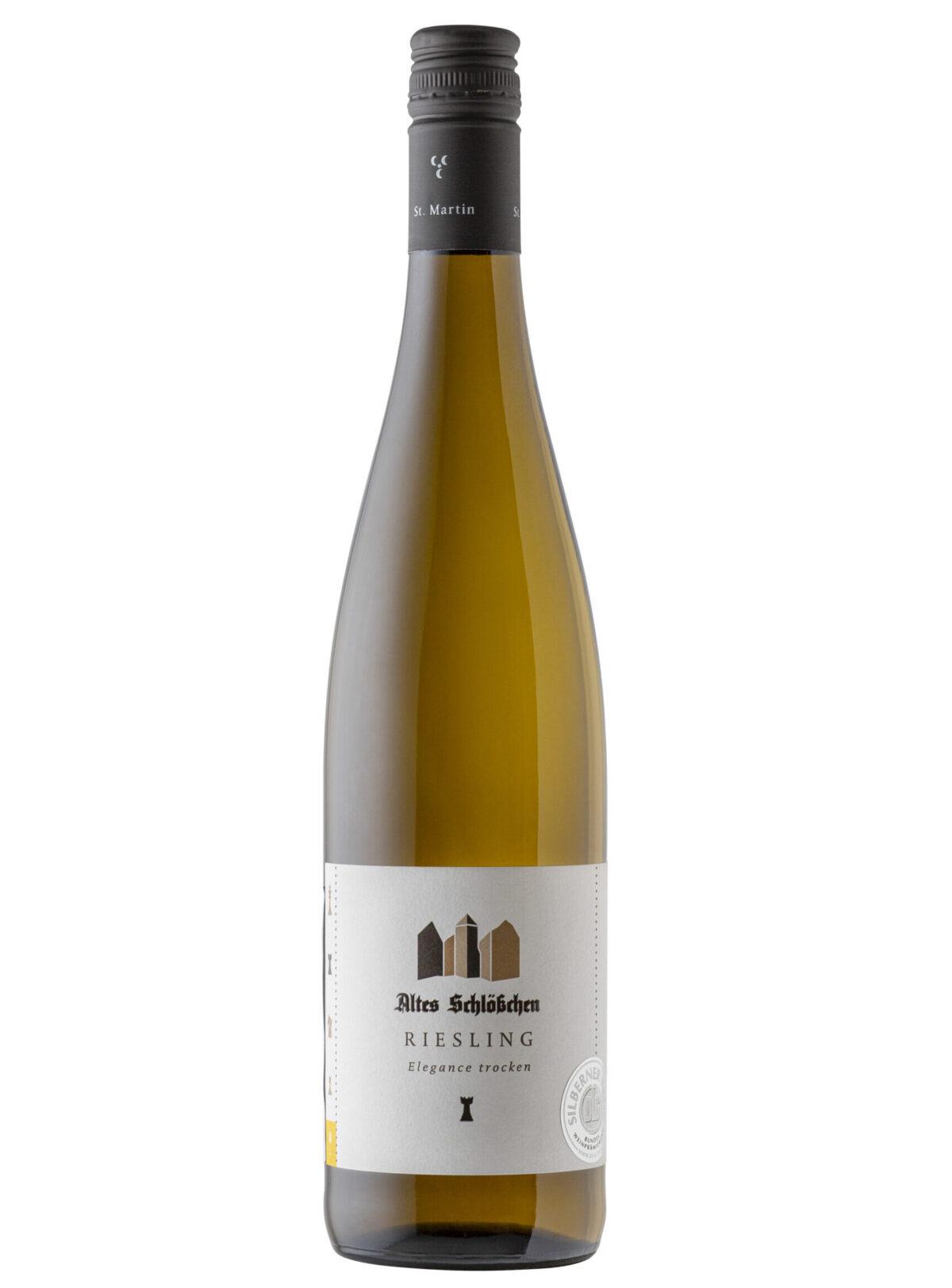 Bottle of Altes Schlosschen Elegance Riesling Wine.