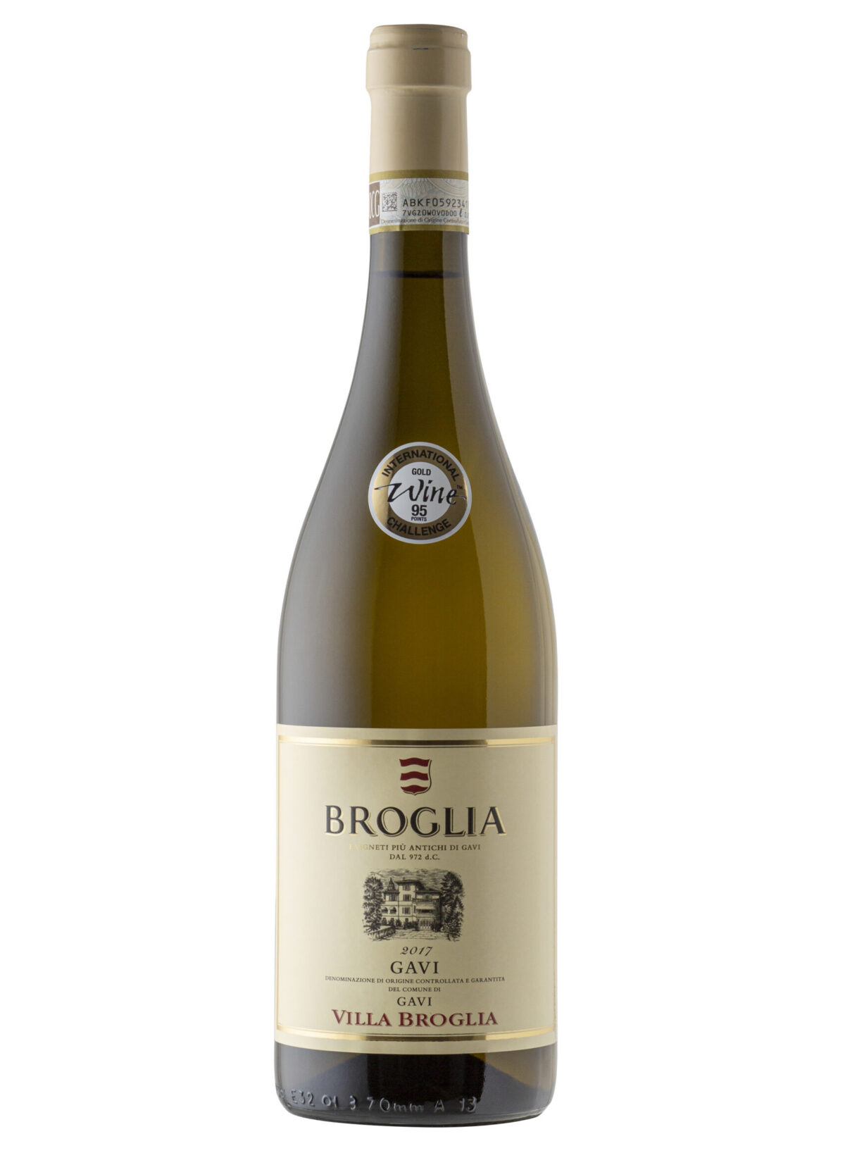 Villa Broglia Wine Bottle.
