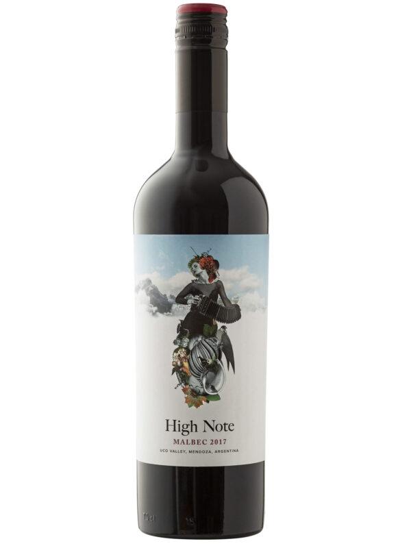 High Note Malbec Wine Bottle.