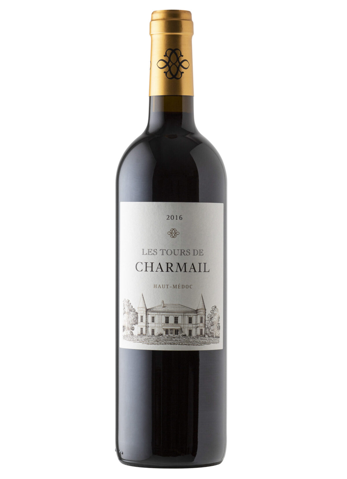 Les Tours de Charmail Haut-Medoc wine bottle.