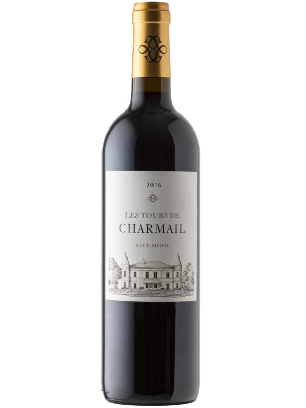 Les Tours de Charmail Haut-Medoc wine bottle.