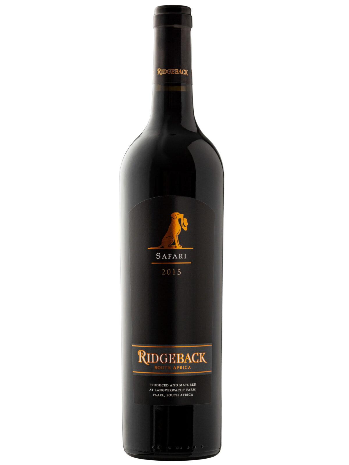 Ridgeback Safari Red Blend wine bottle.