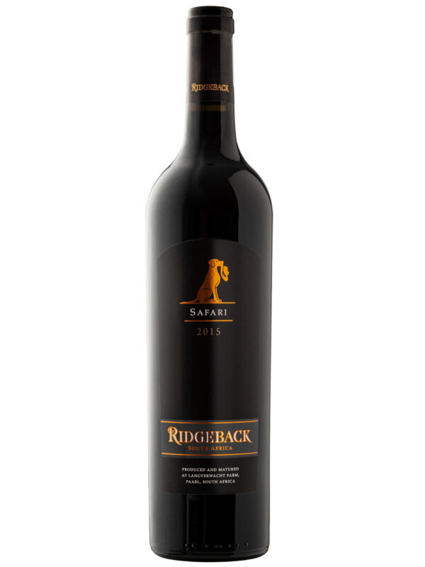 Ridgeback Safari Red Blend wine bottle.
